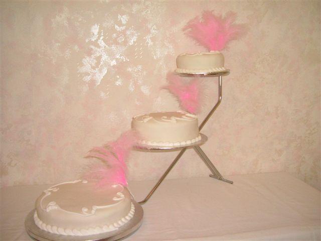 Three tier sliver tone cake stand