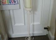 Tall Glass candle holder - Hired items